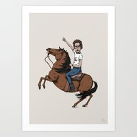 napoleon Art Prints featuring Napoleon by Jaco Haasbroek