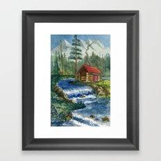 Peaceful Cabin Framed Art Print