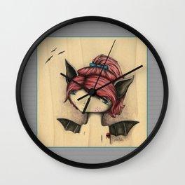 Bat Girl Wall Clock