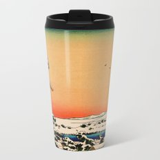 Snow at Koishikawa - Vintage Japanese Art Metal Travel Mug