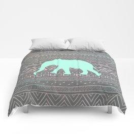 Mint Elephant  Comforters
