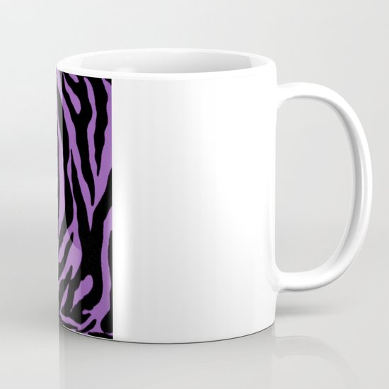 Purple Zebra Background Mug
