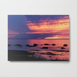 Sunset on the Mighty St-Lawrence Metal Print