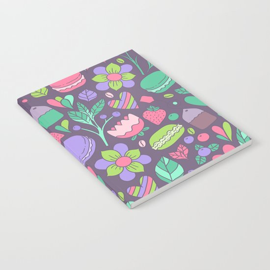 Macarons and flowers Notebook