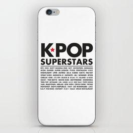 KPOP Superstars Original Boy Groups Merchandse iPhone Skin
