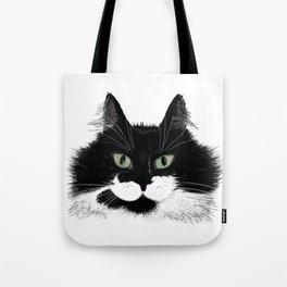 Tuxedo Cat - Full Face Tote Bag
