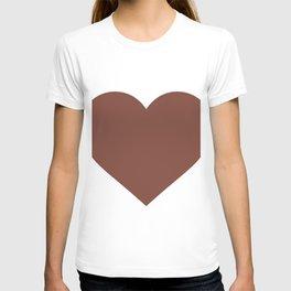 Heart (Brown & White) T-shirt