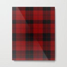 Scottish Red & Black Tartan Metal Print
