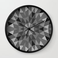 gray pattern Wall Clocks featuring Gray Pattern by 2sweet4words Designs