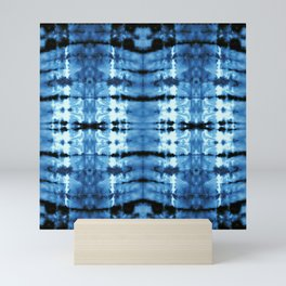 Indigo Satin Shibori Mini Art Print