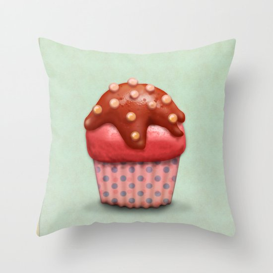 Artist Who Throws Cake : Cake Throw Pillow by Tatyana Adzhaliyska Society6