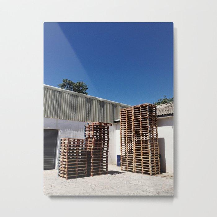 A Packaging Warehouse Metal Print