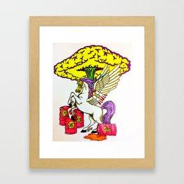 Improve the POXY Logo Framed Art Print