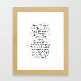 MAY THE ROAD rise to meet you Irish blessing sign Irish blessing print Irish wedding gift Framed Art Print