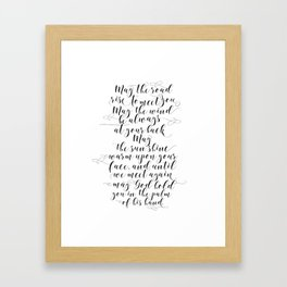 MAY THE ROAD rise to meet you Irish blessing sign Irish blessing print Irish wedding gift Framed Art Print