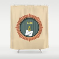 221b Shower Curtains featuring 221B Bag End by sirwatson