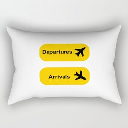 Airport sign Rectangular Pillow