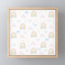 Rainbow kid feelings Framed Mini Art Print