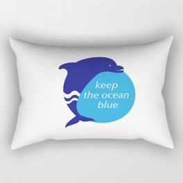 Keep the Ocean Blue_Dolphin_E02 Rectangular Pillow