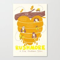 rushmore Canvas Prints featuring Rushmore Poster by Heather Lund Illustration