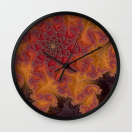 Heart of the Flame - Fractal Art Wall Clock