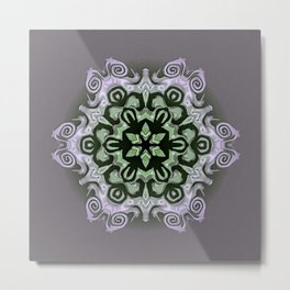 Sequential Baseline Mandala 12f Metal Print