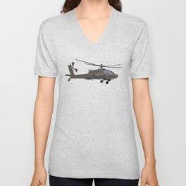 AH-64 Apache Helicopter Unisex V-Neck