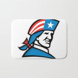 American Patriot Head USA Flag Mascot Bath Mat