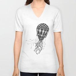 Jellyfish Air Balloon Unisex V-Neck