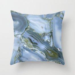 Blue Wealth Throw Pillow