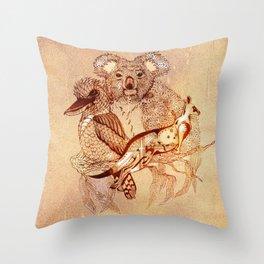 Australian Wildlife Throw Pillow