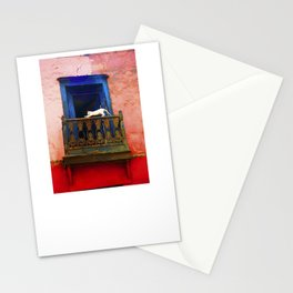 Cat in the Balcony Stationery Cards