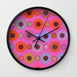 Abstract circle color print Wall Clock