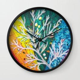 Leaves on the World Tree: Balochis Juniper Wall Clock
