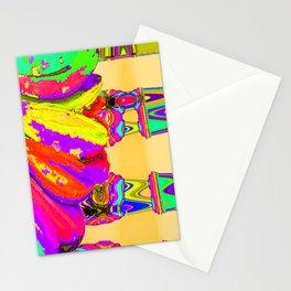 Rainbow Abstract Daisy Stationery Cards