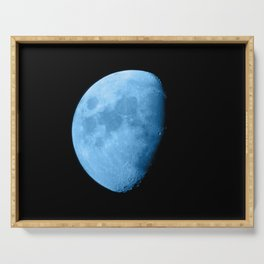 4K Dark Side of the Moon Ice Blue Serving Tray