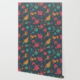 """Retro Colorful Polka Dots"" Wallpaper"