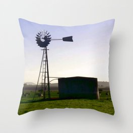 Early morning on the Farm Throw Pillow