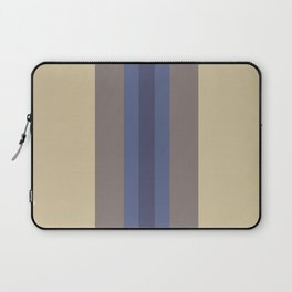 Stripes: Soybean, Princess Blue, and Eclipse Laptop Sleeve