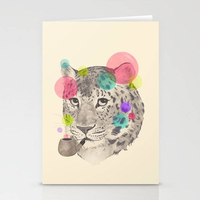 leopard changes his spots Stationery Cards