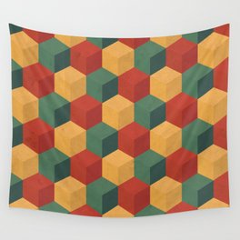 Retro Cubic Wall Tapestry