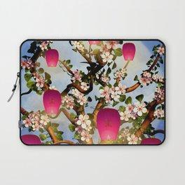 Cherry Tree Blossom With Pink Lanterns Laptop Sleeve