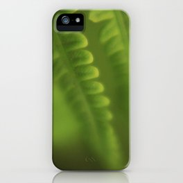 Green lines iPhone Case