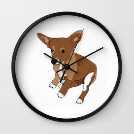 Puppy Dog (brown) Wall Clock
