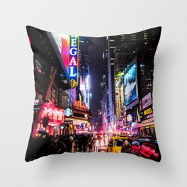 New York City Night Throw Pillow