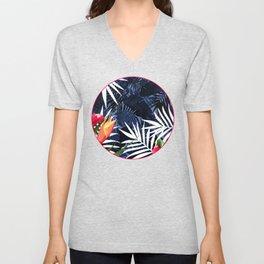 Bold Tropical Paradise Design Unisex V-Neck