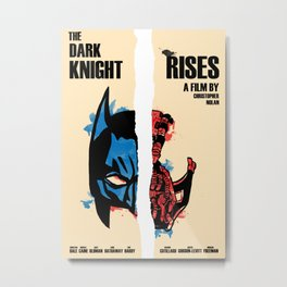 The Dark Knight Rises Limited Edition Art Print Poster  Metal Print