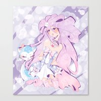 mew Canvas Prints featuring Lady Mew Mew  by Chocolat