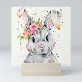 Little Miss Bunny Mini Art Print