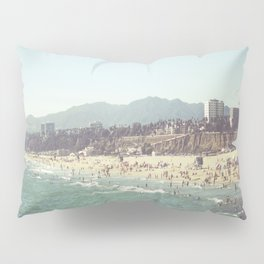 Santa Monica Beach View Pillow Sham
